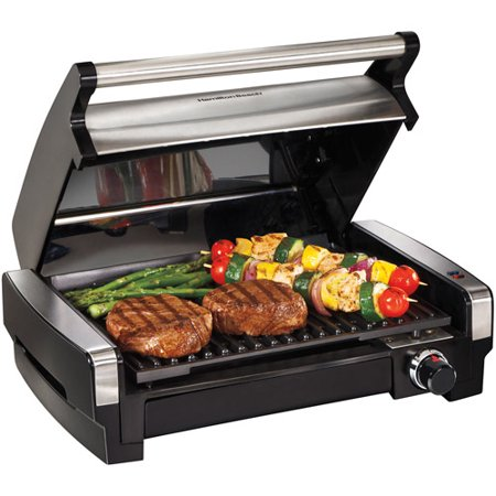 Hamilton Beach Electric Indoor Searing Grill with Removable Plates and Less Smoke | Model #