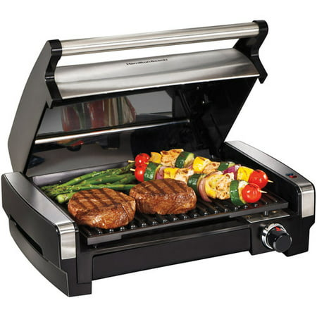 Hamilton Beach Electric Indoor Searing Grill with Removable Plates and Less Smoke | Model # 25360