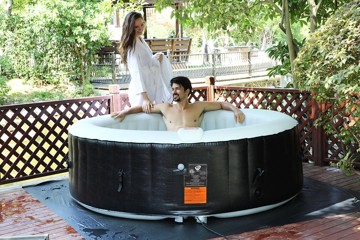 Costway Portable Inflatable Bubble Massage Spa Hot Tub 6 Person ...