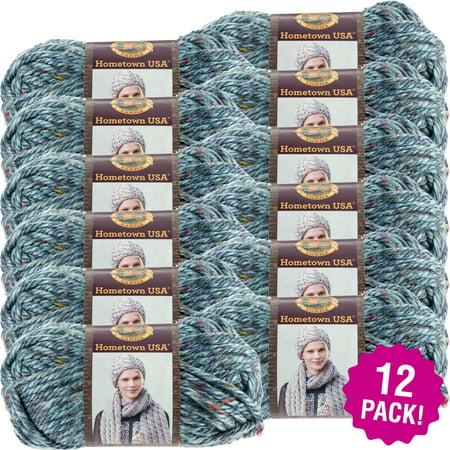 Lion Brand Hometown USA Yarn - Key Largo Tweed, Multipack of - 4 Ply Tweed Yarn