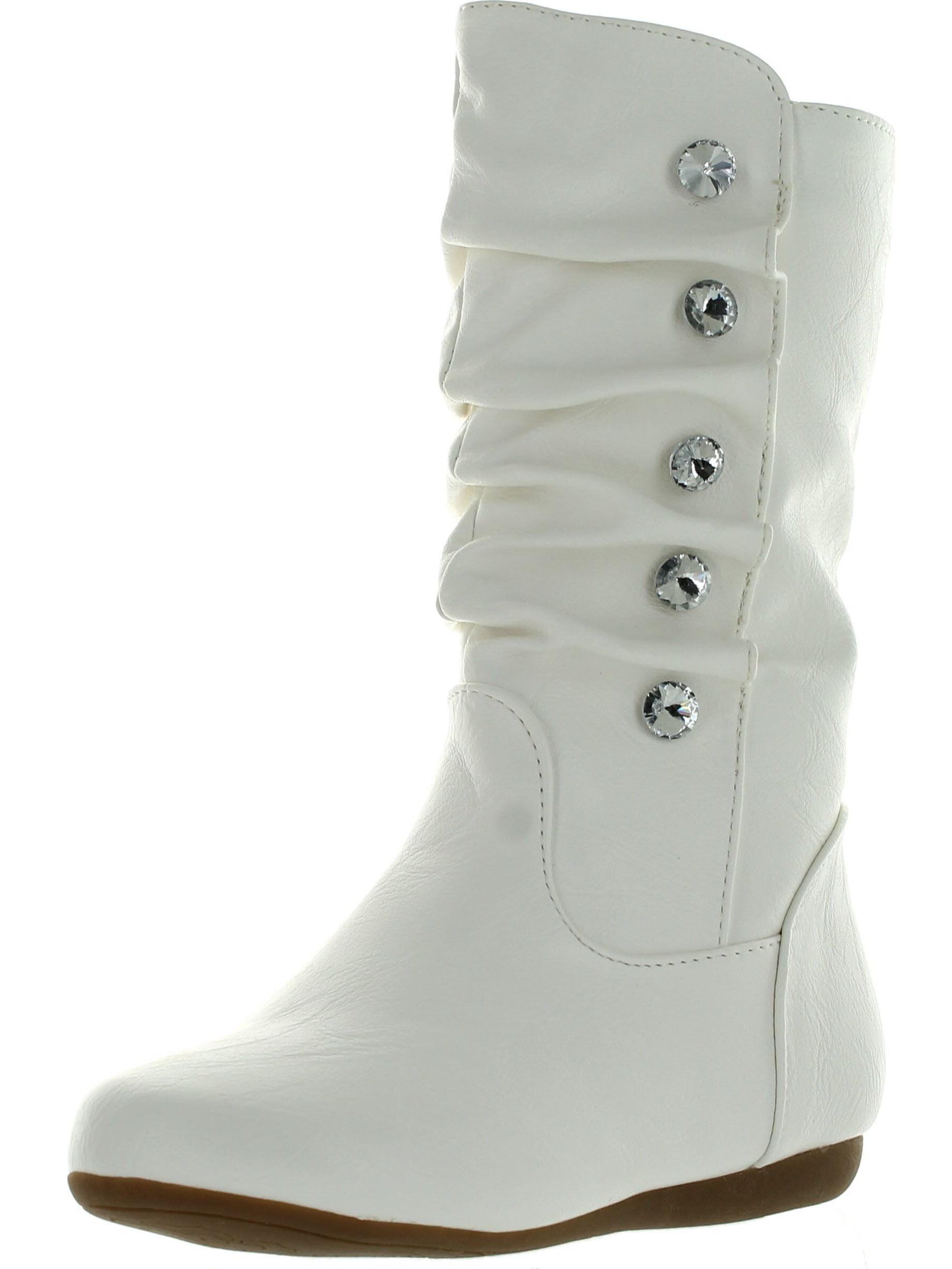 Lucky Top Little Girl/'s Bank-21K Mid Calf Flat Sweater Boots