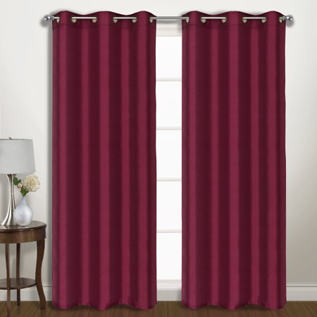 United Curtain Vintage Faux Silk Wide Width Blackout Curtain Panel Pairs