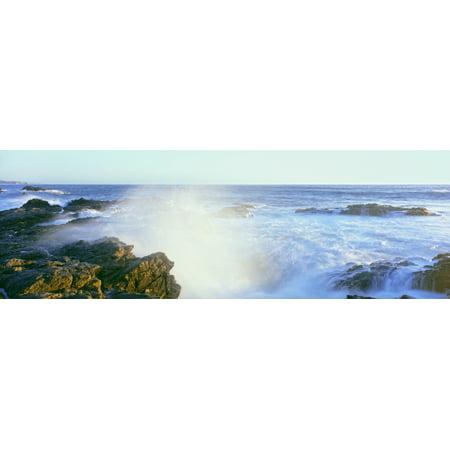 Waves Breaking On The Coast Cerritos Beach Cabo San Lucas Todos Santos Baja California Mexico Poster