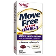 Move Free Ultra Omega, 30 softgels, Joint Health Supplement with Omega-3 Krill Oil and Hyaluronic Acid