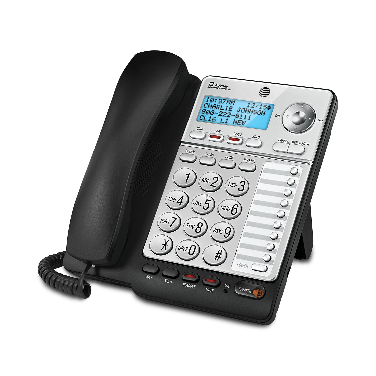 E3 AT/&T ML17928 2 Line Office Phone Caller ID Speaker Conference No Power for sale online