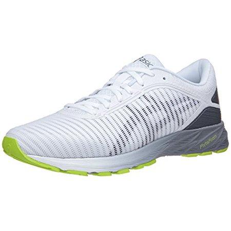 sports shoes ddef8 65379 ASICS T7D0N Men's Dynaflyte Running Shoe, White/Black/Stone Grey - 10.5