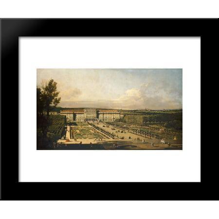 Imperial Summer Palace Of Sch Nbrunn  Garden Fa Ade 20X24 Framed Art Print By Bernardo Bellotto