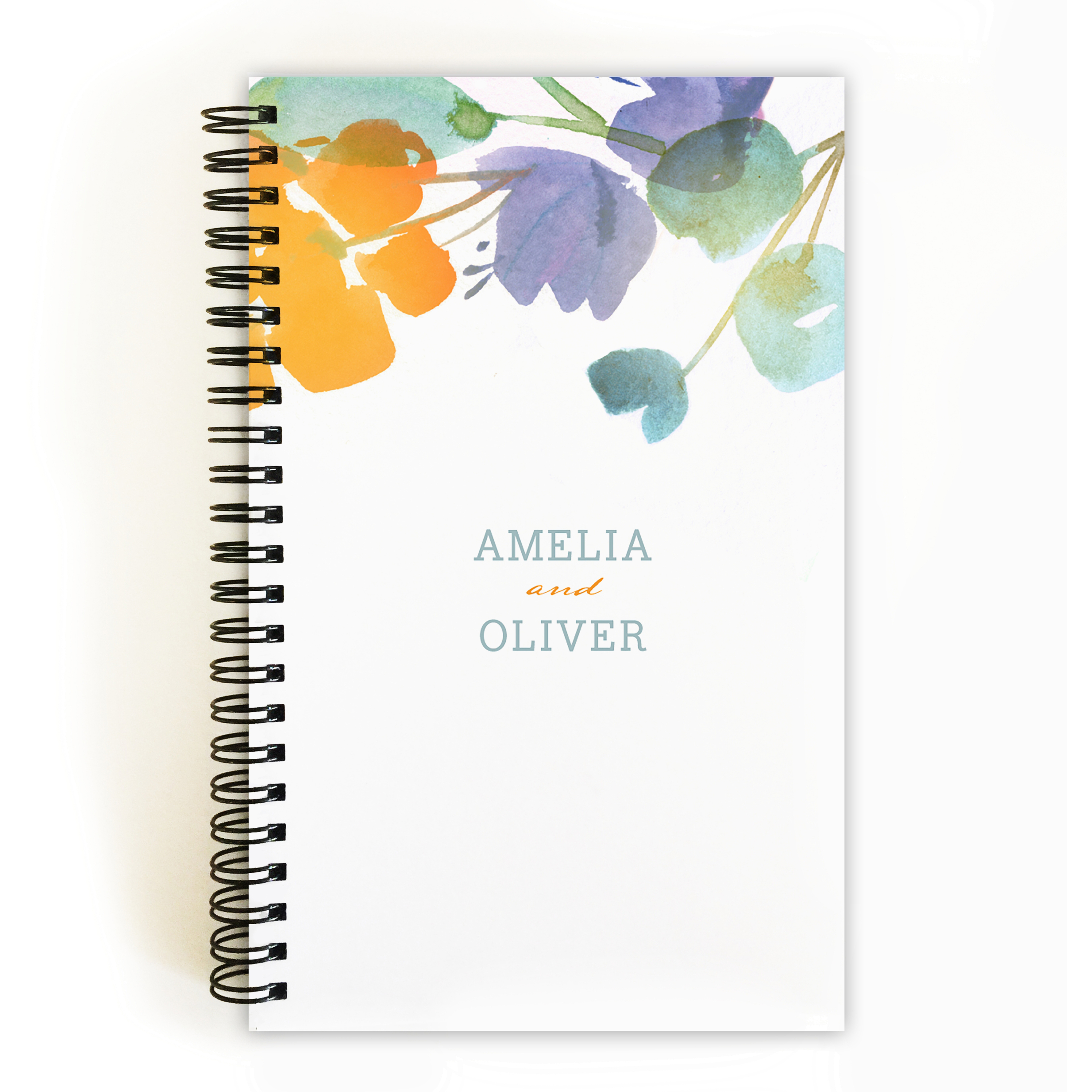 Artistic Floral - Personalized 5 x 8 Notebook