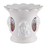 (D) Vintage Ceramic Flower Vase with 3 Ladies, Old Fashioned Design