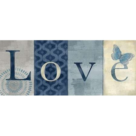 Live Love Laugh Navy II Canvas Art - Cynthia Coulter (10 x 20)