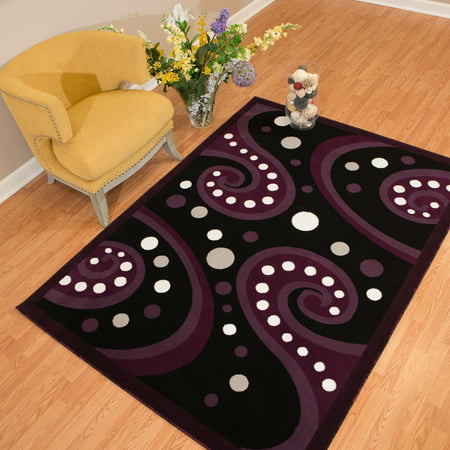 - United Weavers Brasserie Espresso Swirl Plum Woven Olefin Area Rug or Runner