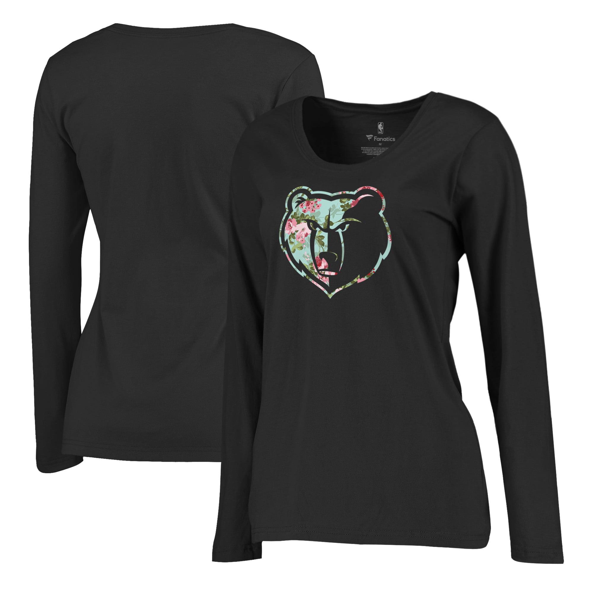 Memphis Grizzlies Fanatics Branded Women's Lovely Plus Size Long Sleeve V-Neck T-Shirt - Black