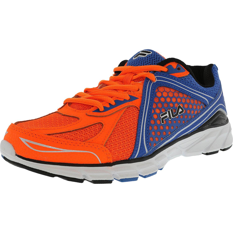 Fila Men's Threshold 3 Shocking Orange   Electric Blue White Fashion Sneaker 9.5M by Fila