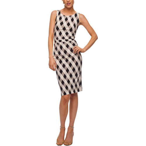 Norma Kamali - Women's Shirred Column Print Jersey Dress