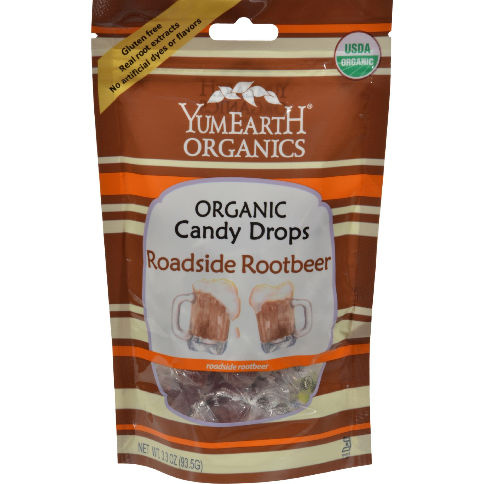 Yummy Earth Organic Candy Drops Roadside Root Beer - 3.3 oz - Case of 6