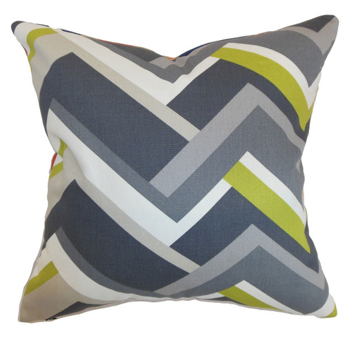 The Pillow Collection Hoonah Geometric Cotton Throw Pillow Cover