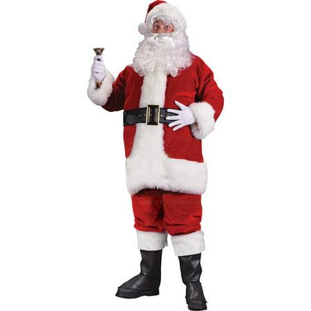 Plush Regency Christmas Santa Suit - Cheap Santa Suits