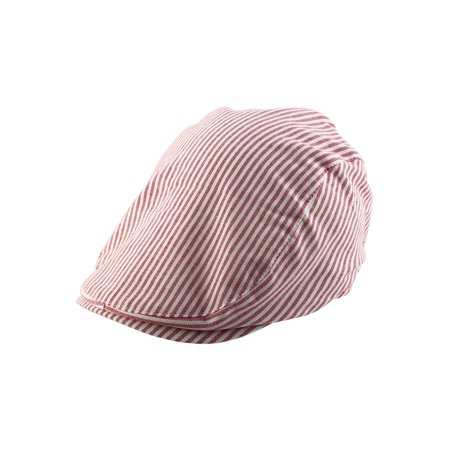 Striped Pattern Summer Newsboy Duckbill Ivy Cap Driving Golf Flat Beret Hat](Golf Hat)