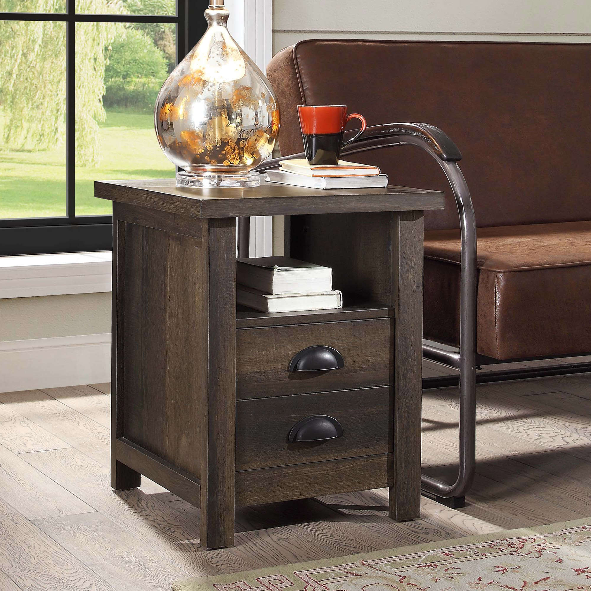 Better Homes and Gardens Granary Modern Farmhouse End Table, Multiple Finishes by WHALEN LIMITED