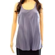 Classiques Entier NEW Gray Women's Size Medium M Scoop Neck Blouse Silk