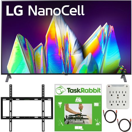 "LG 65NANO99UNA 65 inch 8K HDR Smart LED NanoCell TV with AI ThinQ 2020 Model Bundle with TaskRabbit Installation Services + Deco Gear Wall Mount + HDMI Cables + Surge Adapter(65NANO99 65"" TV)"