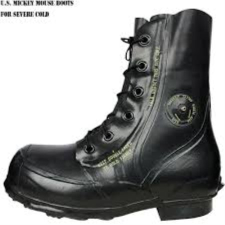 Combat Boot,Mickey Mouse Extreme Cold Weather Boots, Waterproof Rubber, Genuine U.S. Military Issue New Slightly