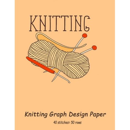 Knitting Graph Design Paper 40 Stitches 50 Rows Designing Your