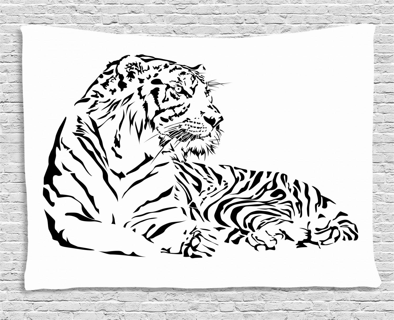 Wall Tattoo Tiger Nursery Africa Savannah Living Room Safari India wal003