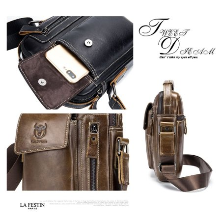 Business Style Cow Leather Men Bag Casual Design Men Messenger Bag Best Gift - image 2 of 8
