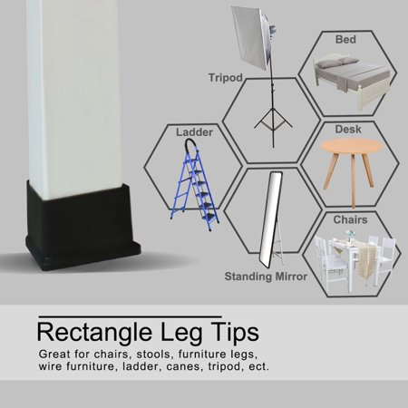 "Desk Table Leg Caps End Tip Home Furniture Protector 6pcs 1.57""x3.15"" (40x80mm) - image 1 de 7"