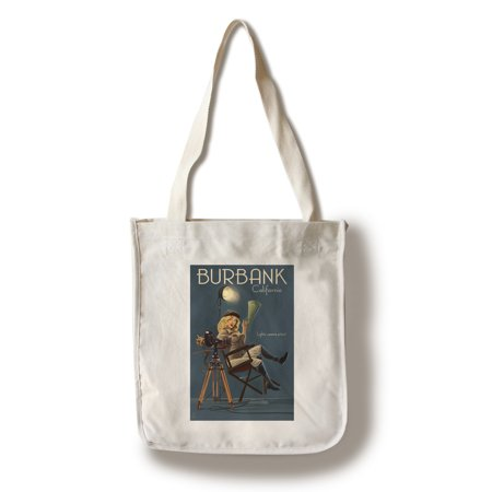 Burbank, California - Directing Pinup Girl - Lantern Press Artwork (100% Cotton Tote Bag - Reusable) - Walmart Burbank California