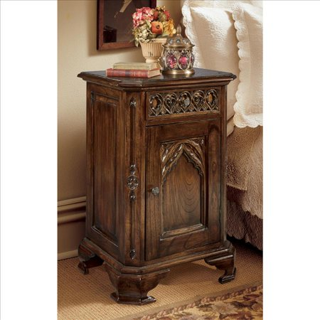 Design Toscano Queensbury Inn Gothic Revival Bedside Table ()