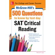 McGraw-Hill's 500 SAT Critical Reading Questions to Know by Test Day - eBook
