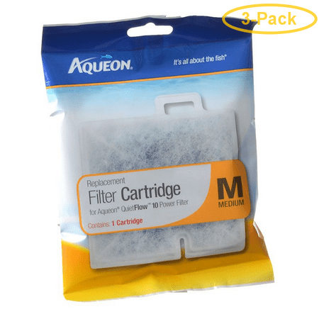Quietflo Replacement (Aqueon QuietFlow Replacement Filter Cartridge Medium (1 Pack) - Pack of 3)