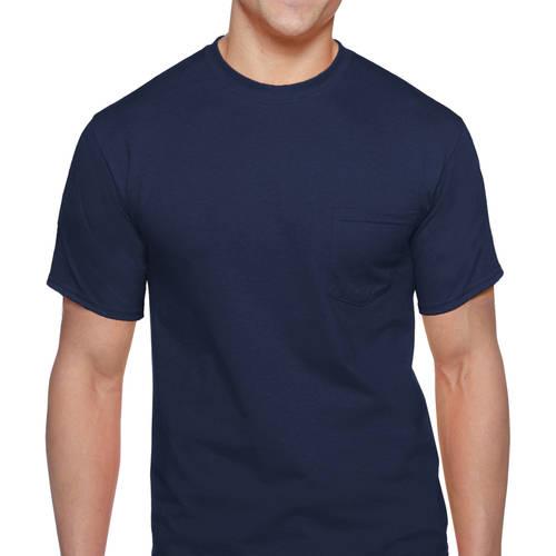 Gildan Platinum Men's Underwear Gildan Big Men's 2 Pack Workwear Pocket Tee