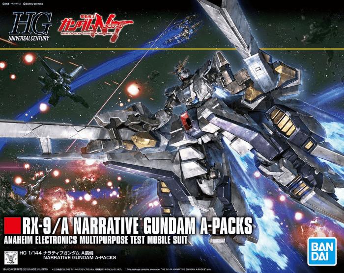 Bandai Hobby Gundam NT Narrative Gundam A-Packs HG 1 144 Model Kit by Bandai Hobby