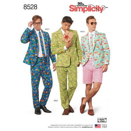 Simplicity Mens' Size 44-52 Suit Costume Pattern, 1 Each