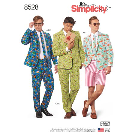 Simplicity Mens' Size 44-52 Suit Costume Pattern, 1 Each](Snoopy Costume Pattern)