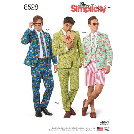 Simplicity Mens' Size 44-52 Suit Costume Pattern, 1 Each
