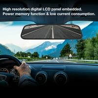 OTVIAP 4.3 Inch Wireless Car Rearview Mirror Reversing Camera Kit Driving Video Recorder, Rearview Camera Kit, Car Reversing Camera