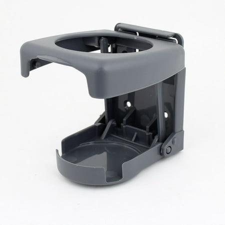 - Portable Plastic Folding Car Cup Drink Beverage Holder Gray