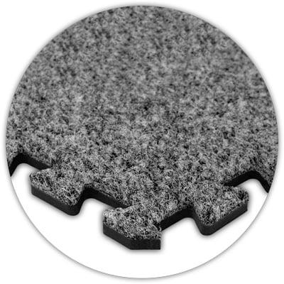 Premium SoftCarpet Flooring, 10'x10' Floor, Light Grey, 5...