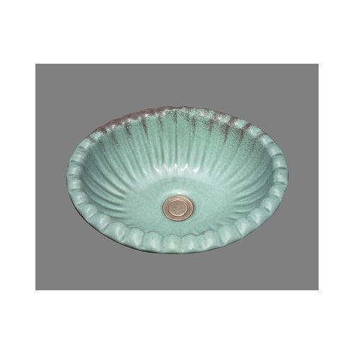 Bates & Bates Ceramics Missy Drop In Bathroom Sink with Overflow