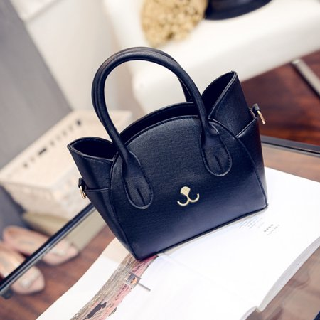 6e6ecace9fb Fashion Women Girls Tote Handbag Cross Body Shoulder Bag Cat Satchel -  Black - Walmart.com