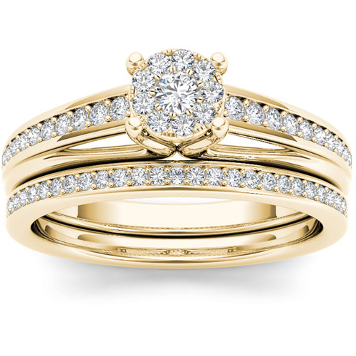 Imperial 3/8 Carat T.W. Diamond 10kt Yellow Gold Cluster ...