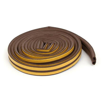 9.8 Feet EPDM Foam Rubber D Type Hollow Weatherstrip Seal Strip Brown (Epdm Rubber Seal)