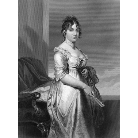Dolley Payne Todd Madison N 1768 1849  Wife Of President James Madison Engraving After Alonzo Chappel 1872 Rolled Canvas Art     24 X 36