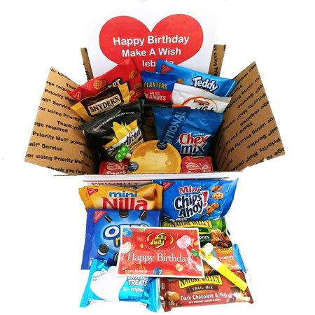 Snack Filled Birthday Care Package: Great for Military, College Students, Kids at