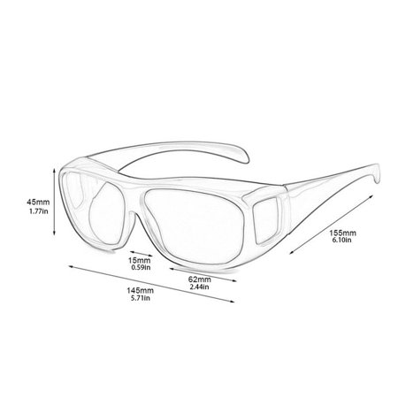 Car Driving Glasses Sunglasses Eyewear UV Protection Night Vision Goggles - image 7 de 9