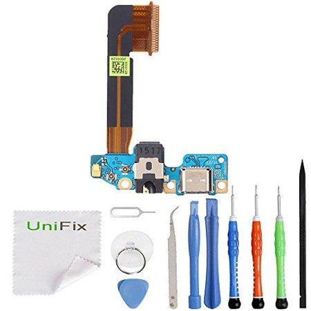 unifix-charging dock usb port replacement parts with microphone connector  headphone jack assembly for htc one m9 + tool kit